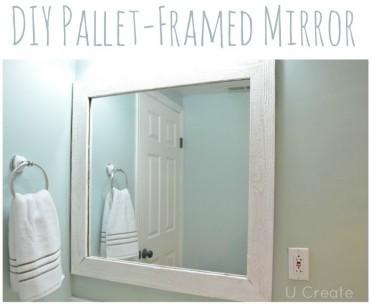 DIY Framed Pallet Mirror by U Create
