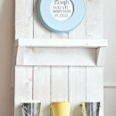 DIY Pallet Shelf by u-createcrafts.com