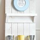DIY Pallet Shelf by u-createcrafts.com