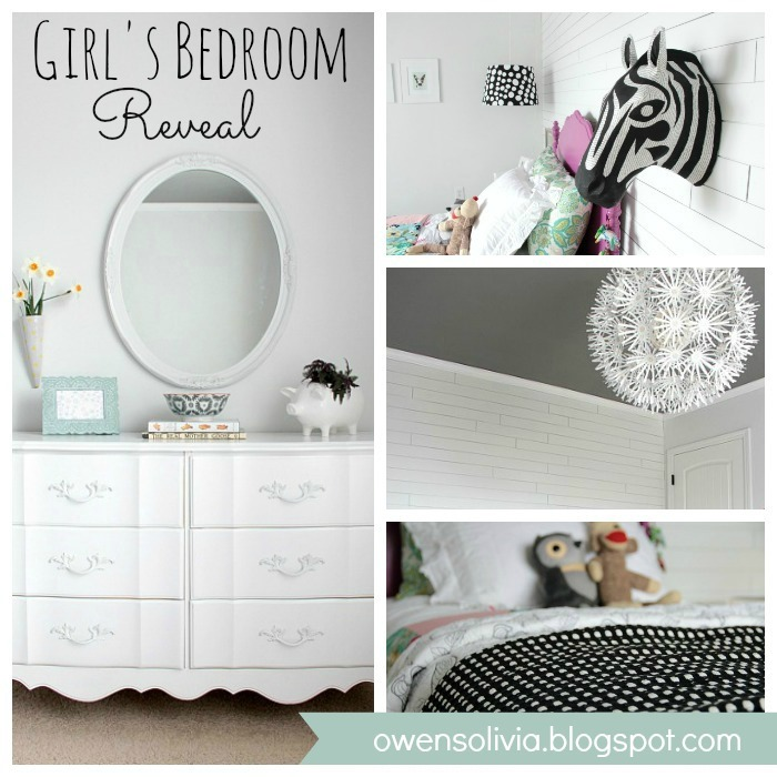 Girls Bedroom Reveal at www.u-createcrafts.com #diy