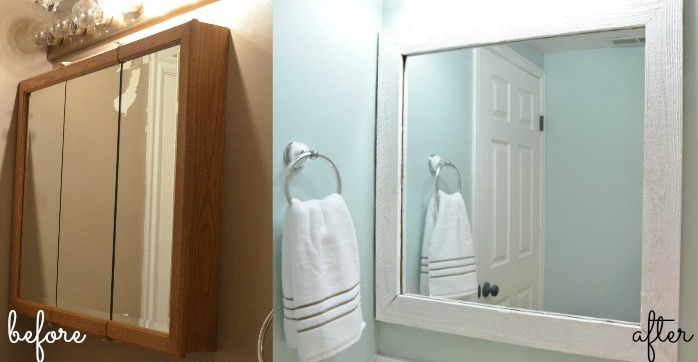 Elegant Before After DIY Mirror Uthe Old Medicine Cabinet