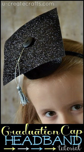 DIY Graduation Cap Headband tutorial u-createcrafts.com