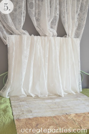DIY Photo Shoot Sheer Curtains