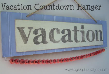DIY Vacation Countdown Calendar by Stephanie Lynn