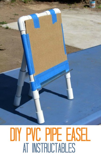 DIY PVC Easel at Instructables