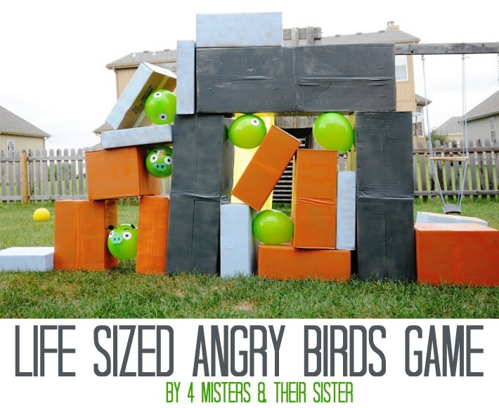 Life-Sized Angry Birds Game by 4 Misters & Their Sister