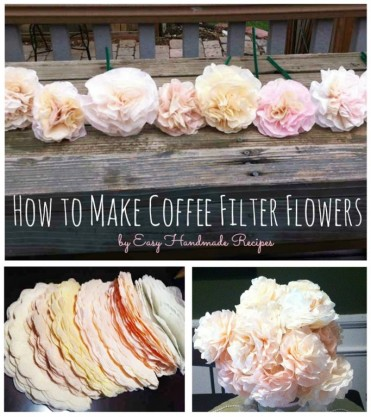 How to Make Coffee Filter Flowers