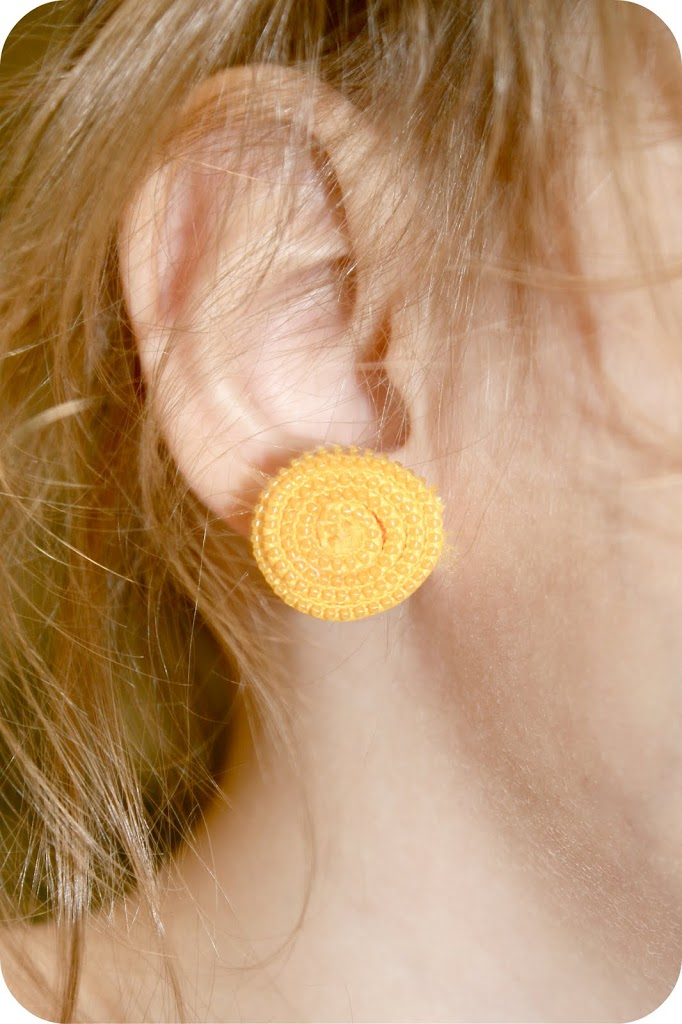 Zipper Rosette Earrings by Sew Craft Create