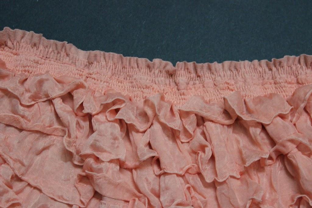 shirring the ruffle fabric