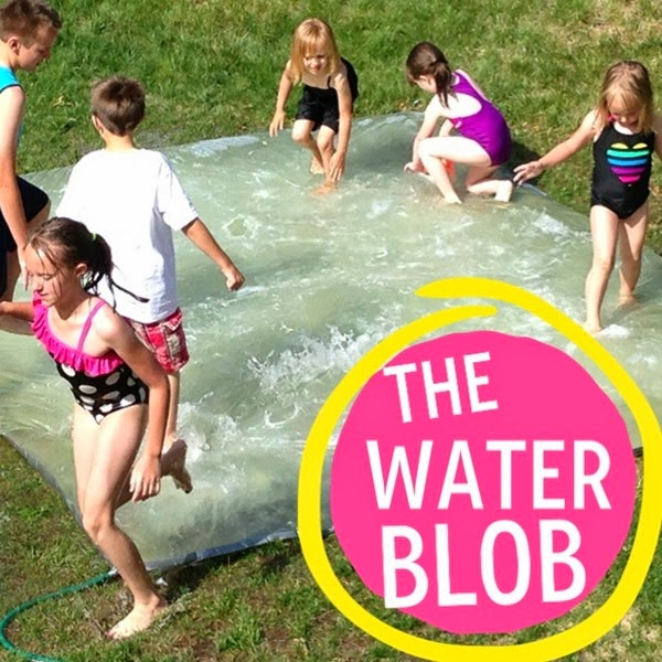 DIY Water Blob using plastic sheeting and duct tape!! u-createcrafts.com