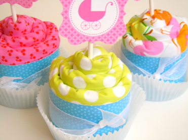 Burp Cloth Cupcake Tutorial