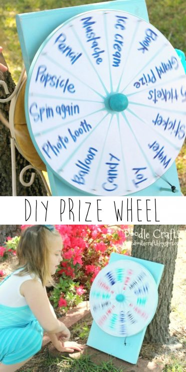 Prize Wheel Tutorial using 5 dollar lazy susan from IKEA! by doodle craft