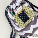 Drawstring Bag Tutorial by icandy handmade