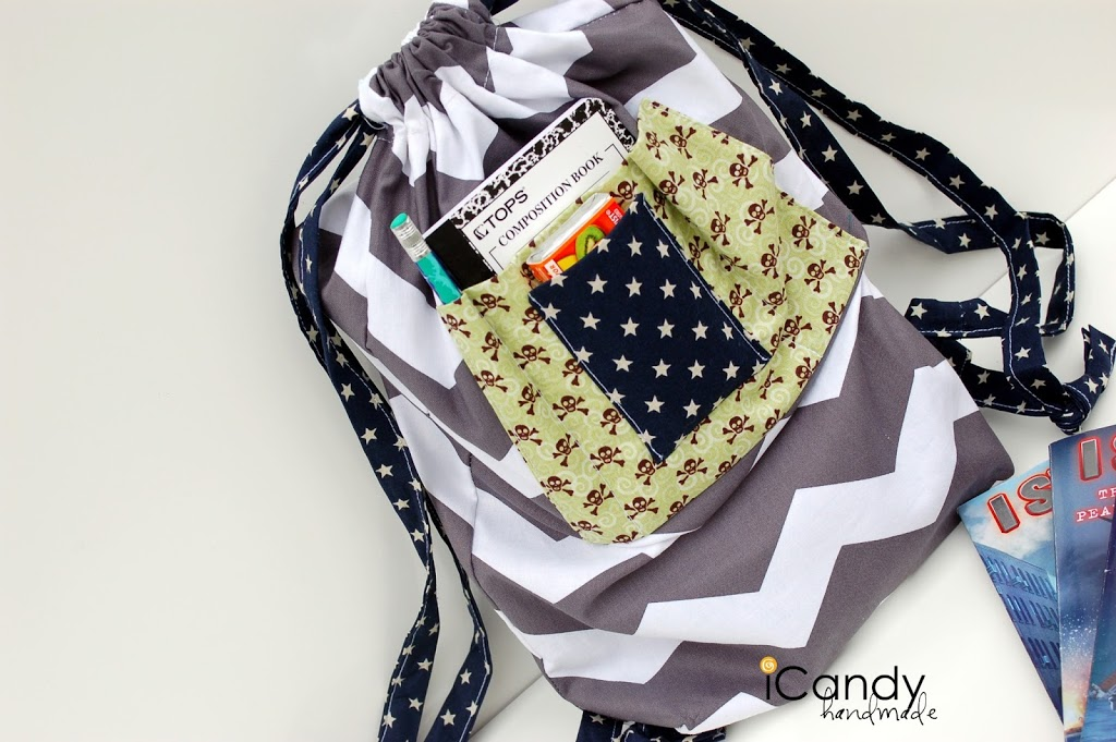 Summer Reading Sack Tutorial by iCandy Handmade