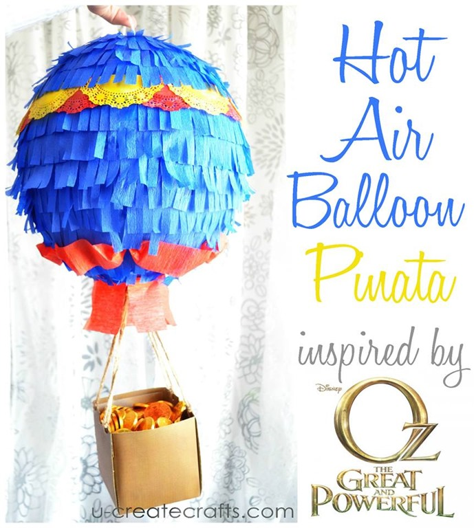 How to Make a Hot Air Balloon Pinata at u-createcrafts.com