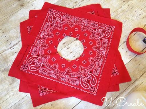 Bandanna Circle Skirt Tutorial by U Create