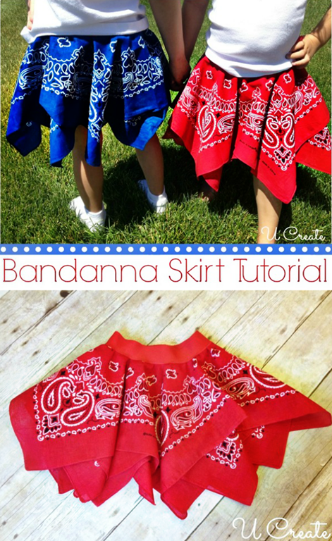 How to make a bandanna skirt by U Create!