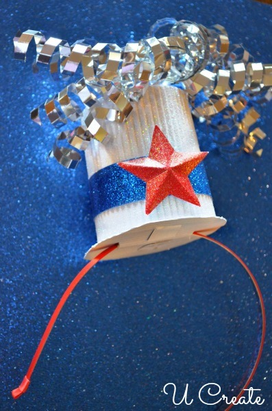 DIY Cute Patriotic Mini Hat with Headband