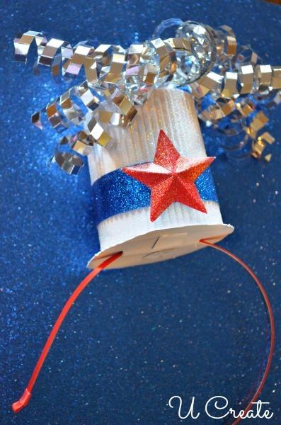 DIY Cute Patriotic Mini Hat with Headband