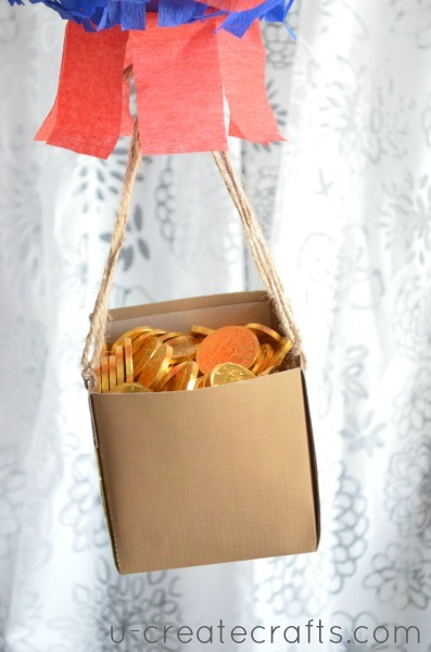 DIY hot air balloon pinata basket