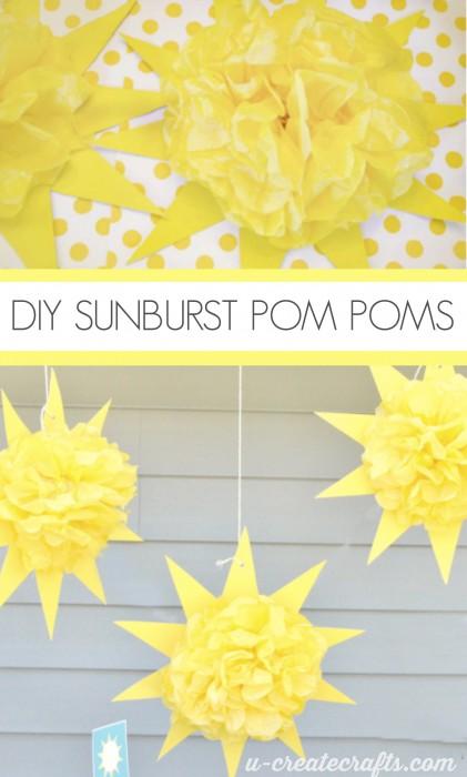 Sunburst Pom Pom Tutorial U Create