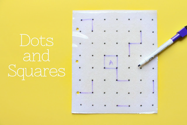 Dry Erasable Dots and Squares Quiet Book Game by Serving Pink Lemonade