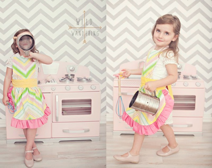 How to make a childs apron by wild wandering