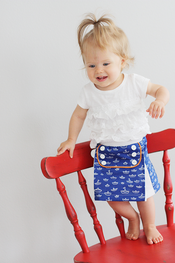 How to Make a Baby Sailor Skirt by Sew Much Ado