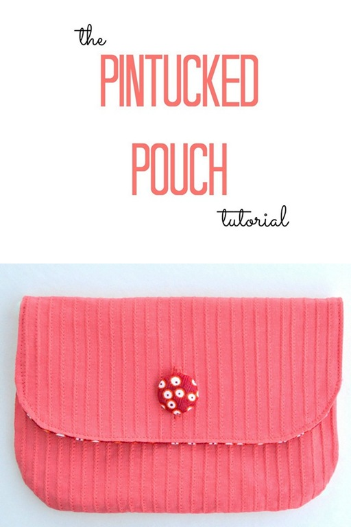 The Pintucked Pouch by Lemon Squeezy Home