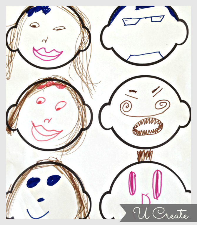 photo regarding Printable Face named Free of charge Printable for Youngsters Blank Faces - U Deliver