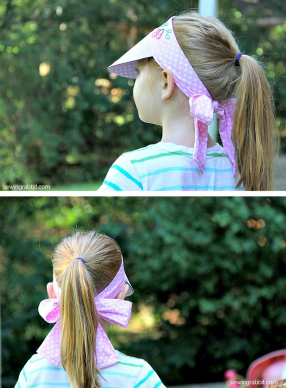 Kid's Sunvisor Tutorial by The Sewing Rabbit