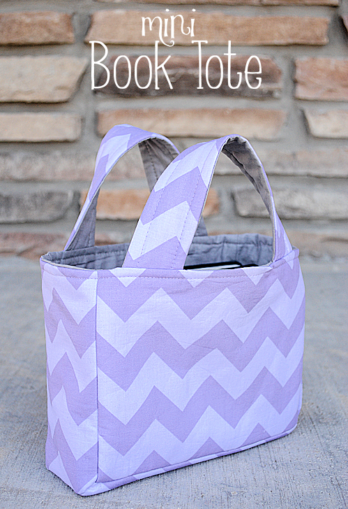 Mini Book Tote Tutorial by Crazy Little Projects