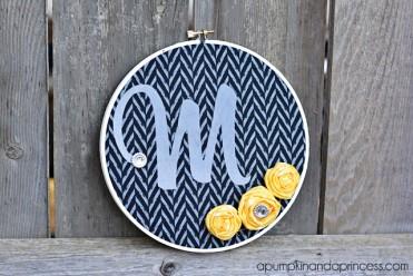 DIY Monogrammed Hoop