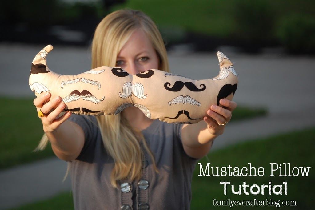 Mustache Pillow Tutorial by Family Ever After