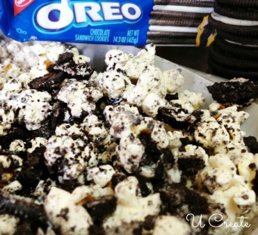Oreo Cookie Popcorn Recipe by U Create