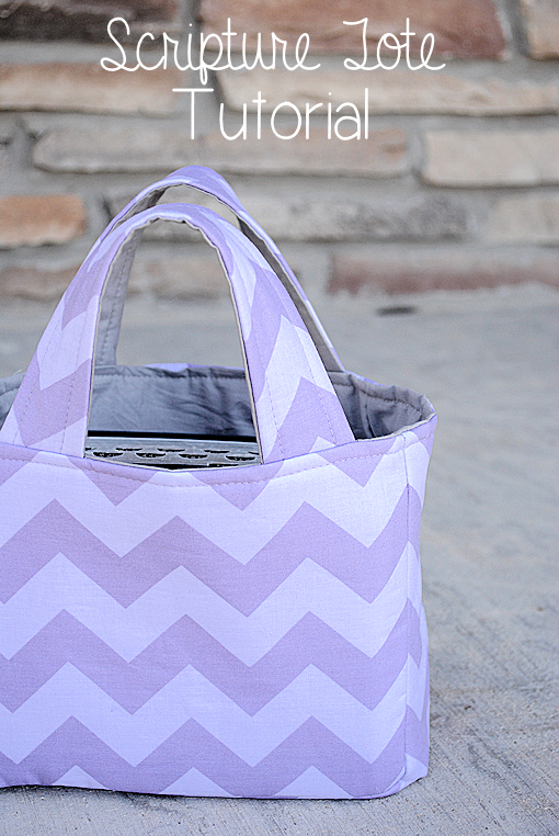 Scripture Tote Pattern and Tutorial by Crazy Little Projects