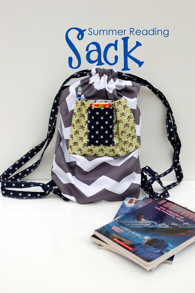 summer reading sack tutorial by iCandy Handmade! perfect for those summer library trips!