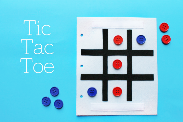 Simple Quiet Book Series - Tic Tac Toe Game by Serving Pink Lemonade