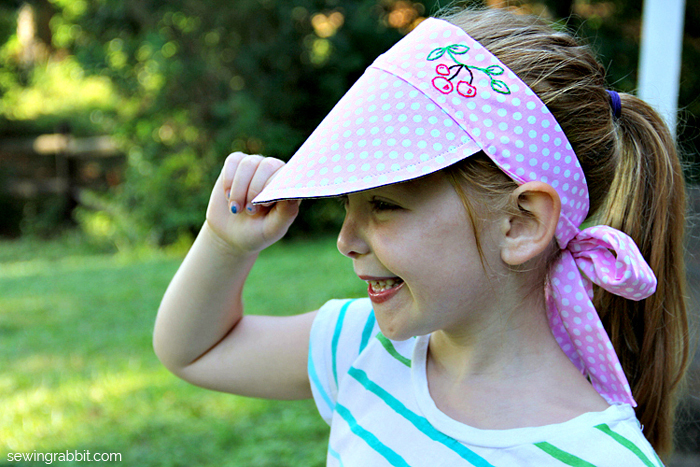Kid's Sun Visor Tutorial by Me Sew Crazy