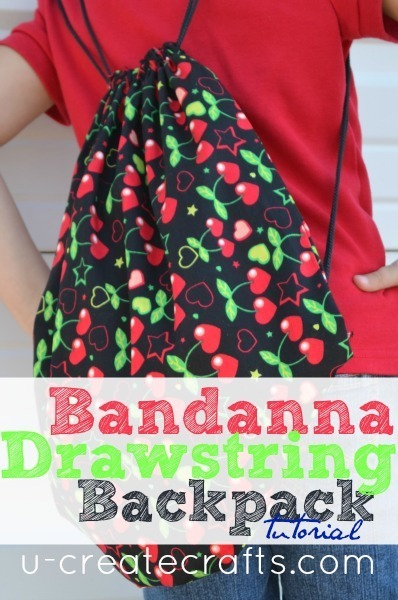 Bandanna Drawstring Backpack Tutorial by U Create