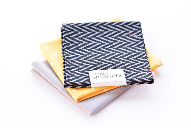 black fabric quarters