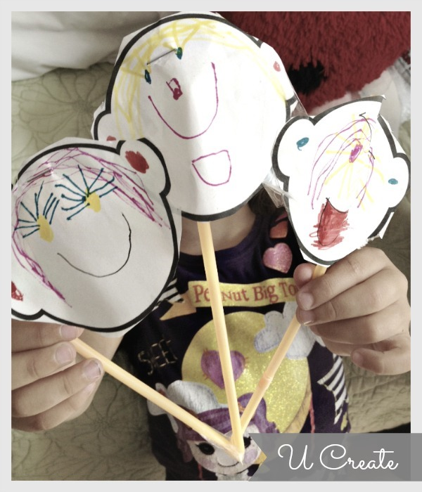 Blank Face Puppets Printable - the kids love these!!