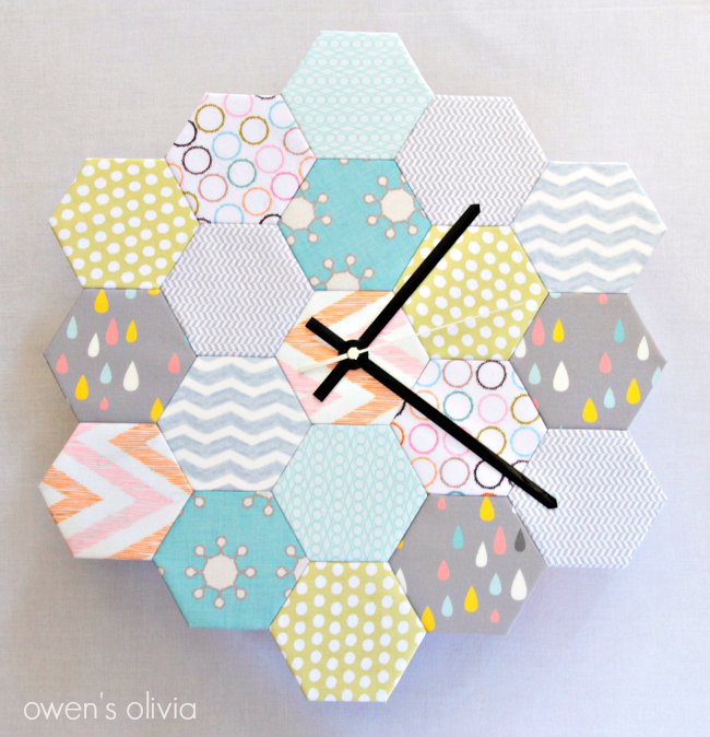 How to Make a Fabric Hexagon Clock by owens olivia