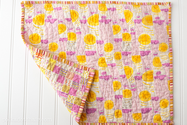 How to Make a Fat Quarter Doll Quilt by Polka Dot Chair