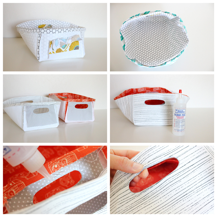 DIY Reversible Fabric Baskets by Delia Creates