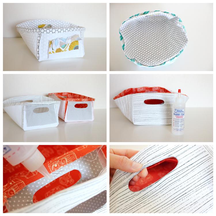 DIY Reversible Fabric Baskets by Delia Creates