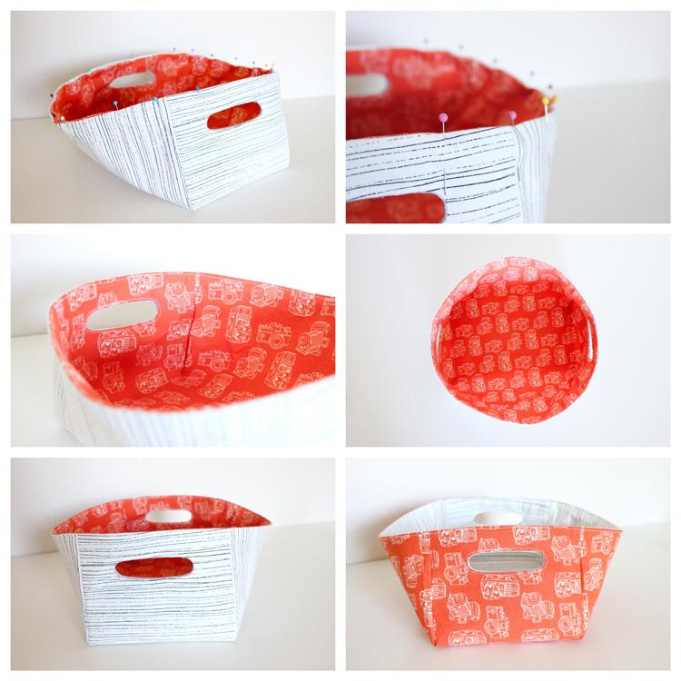 Reversible Fabric Basket Tutorial by Delia Creates