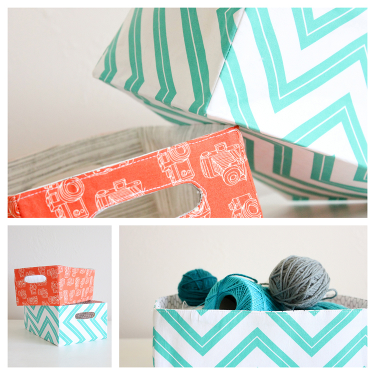 Fabric Baskets with Handles Tutorial by Delia Creates