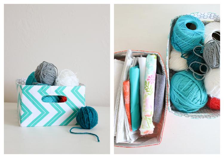 Craft Basket Tutorial by Delia Creates