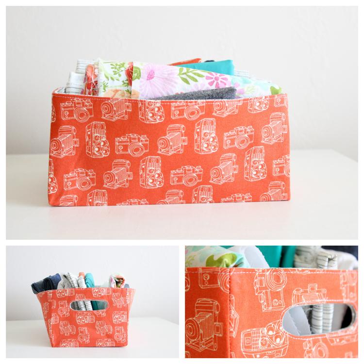 Fabric Storage Baskets by Delia Creates